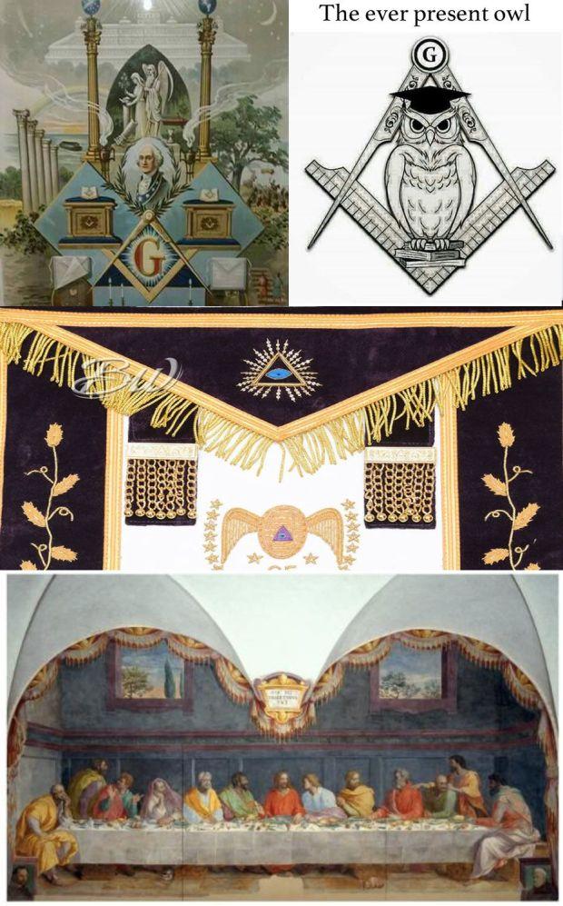 masonic art owl Francia Bigio