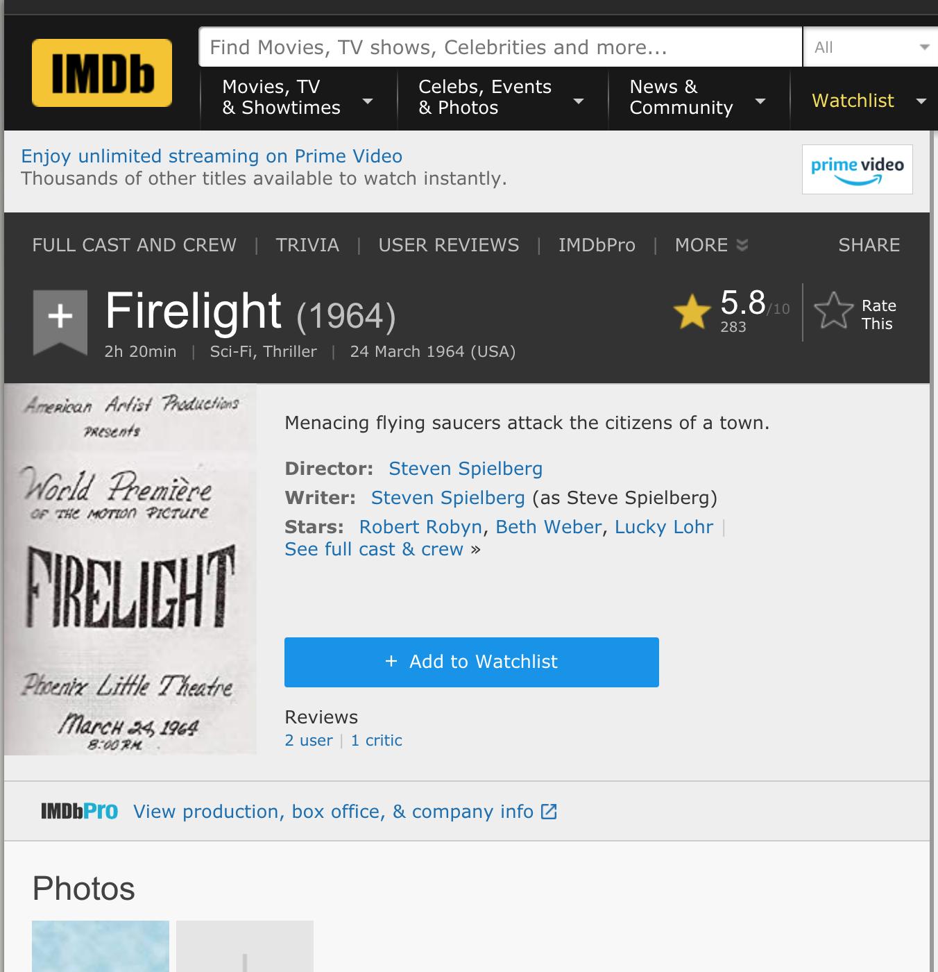 Spielberg Phoenix Lights Firelight