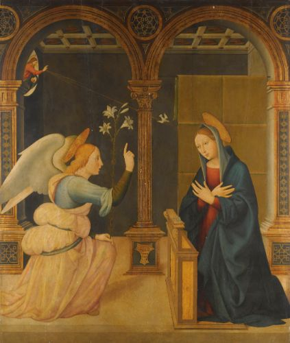 Leonardo di Bernadino kabbala Tablets of Law Esoteric the annunciation