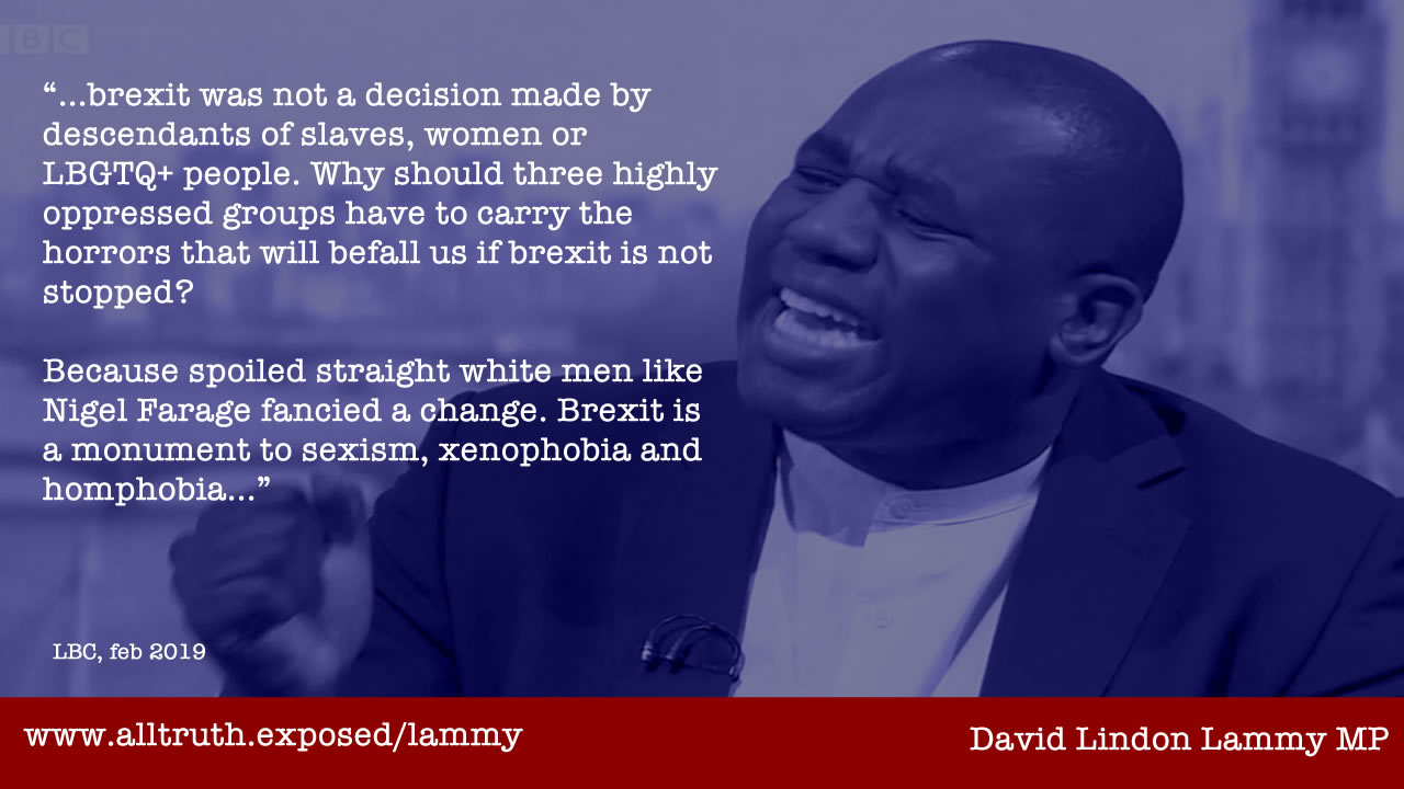 david lammy quote brexit slavery ancestors LBGT