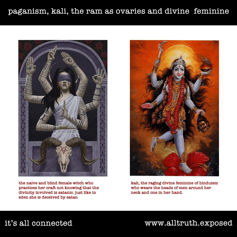 Divine Feminine the Ram Ovaries Kali Paganism Hindu