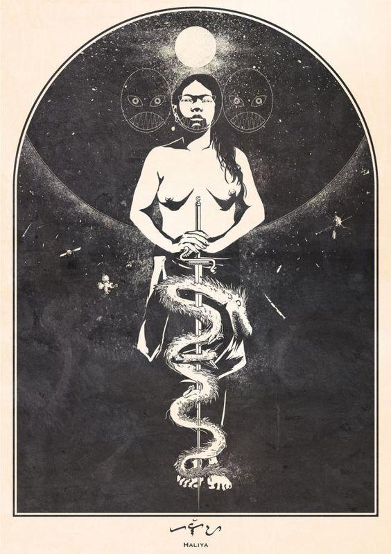 Haliya Bikolano Masked Philippines Pagan Goddess of the Moonlight