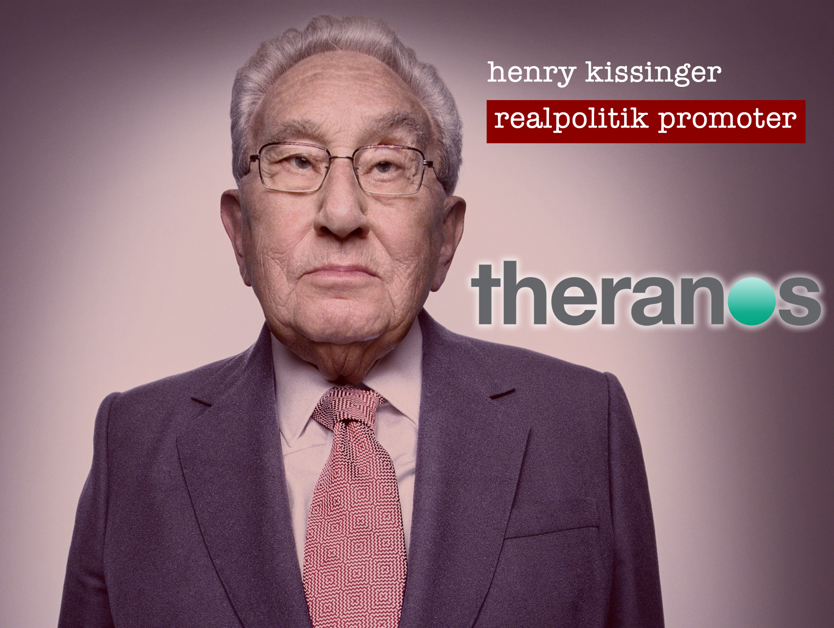 henry kissinger theranos vampire cult