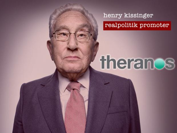 henry kissinger theranos vampire cult