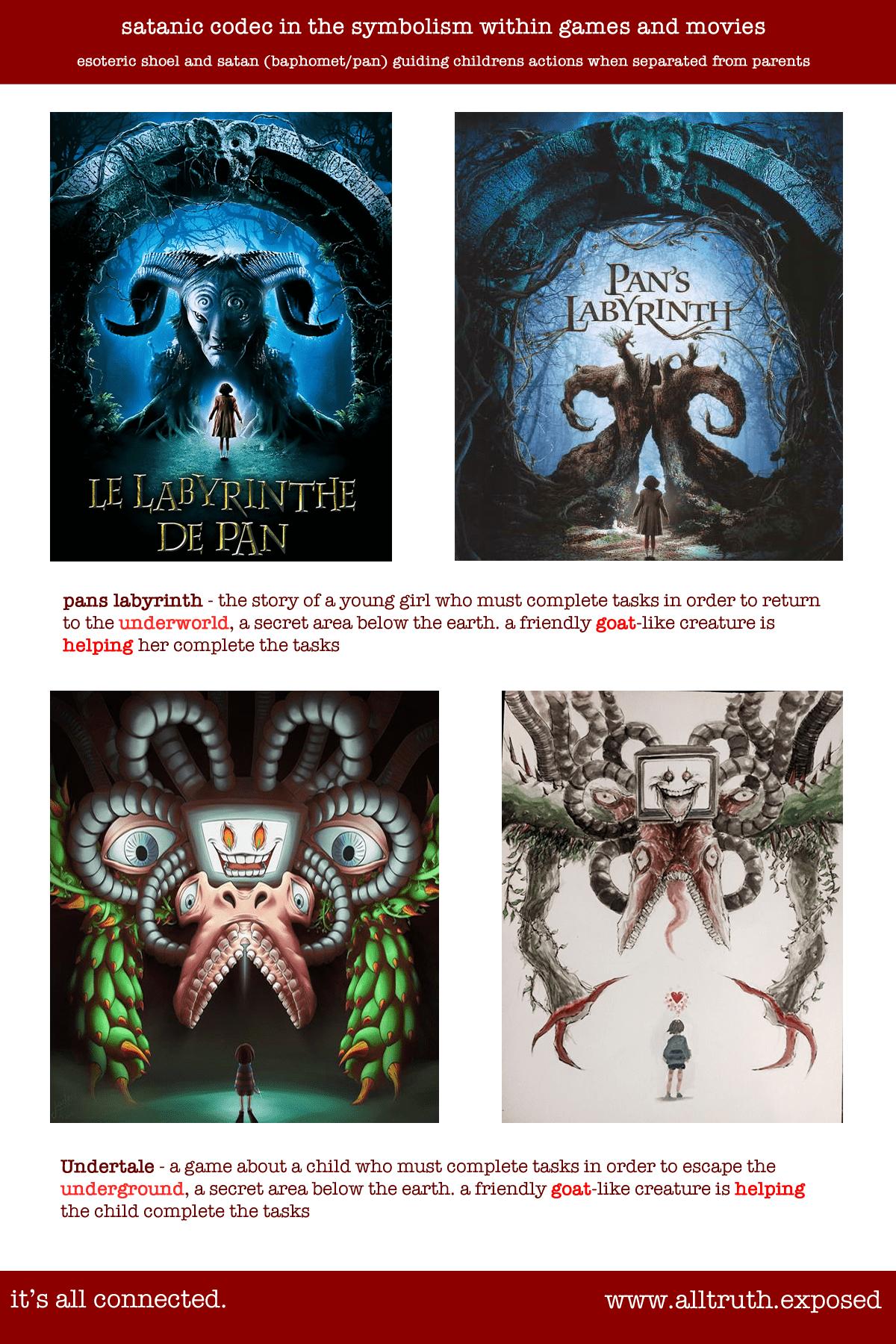 Pans Labyrinth Undertale Esoteric Demonic Paganism Codec