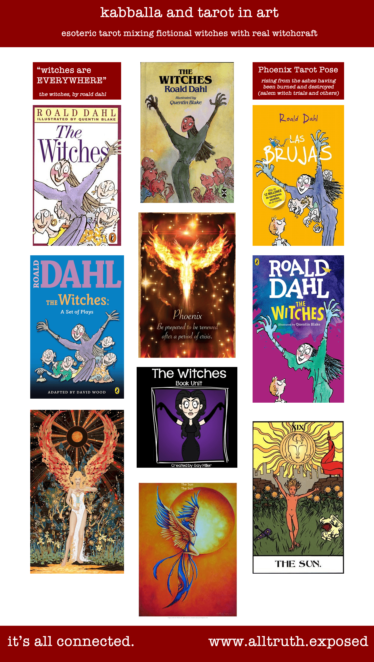 Roald Dahl The Witches Esoteric Tarot Phoenix Sun Cover Art