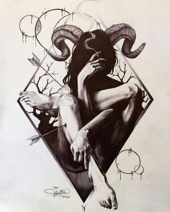 The Ram Divine Feminine Witchcraft Esoteric Arrow