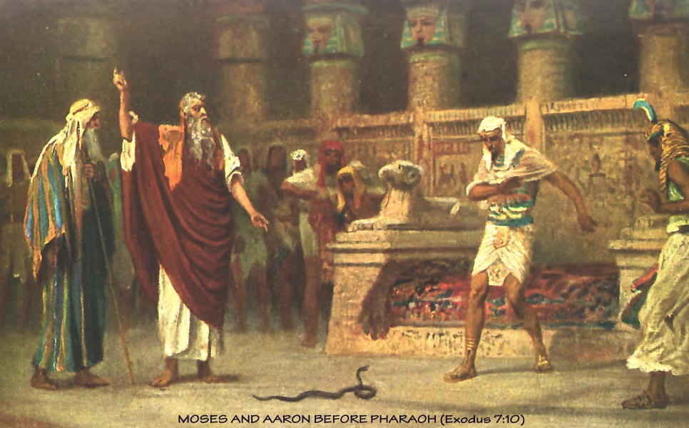 Moses and Aaron Before the Pharoah As Above So Below. Esoteric Kabbalah hidden in art, movies and everyday life