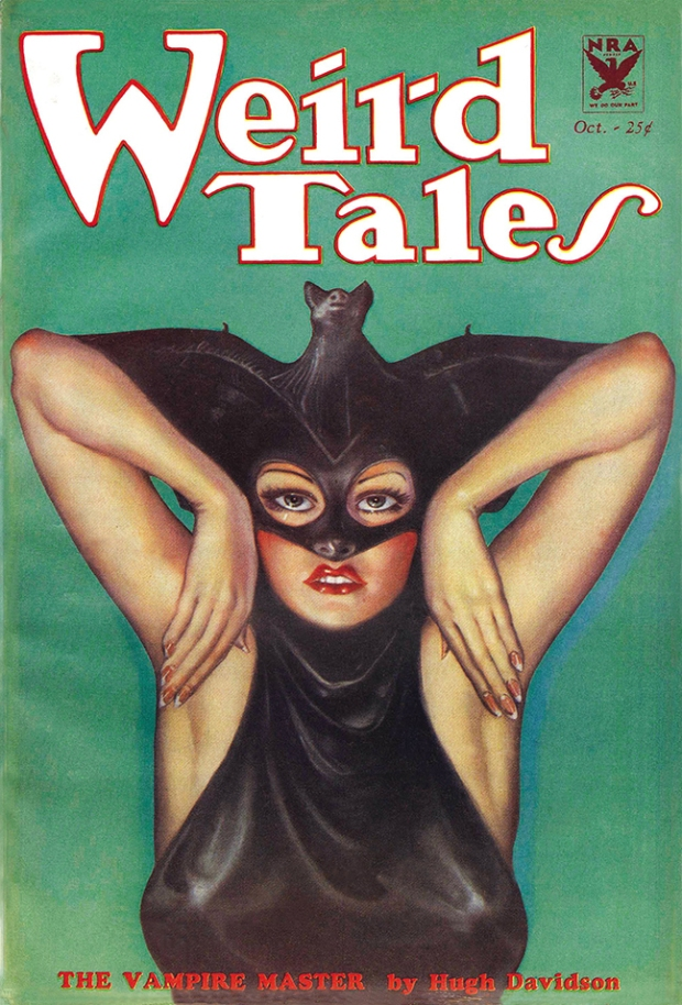 Weird Tales Vampire Master Pulp Magazine Poster Tsimtsum Kabbalah Qabala