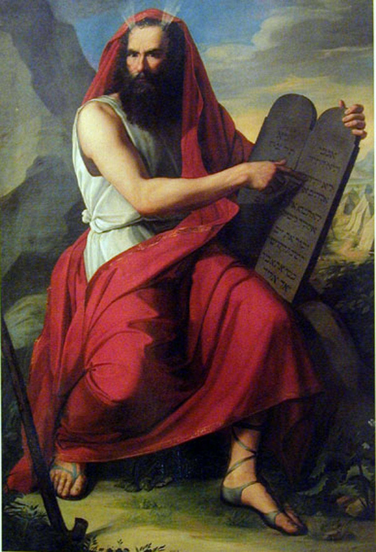 Freemasonry and Hasidic Judaism is hidden within art with Moses and the tablets
