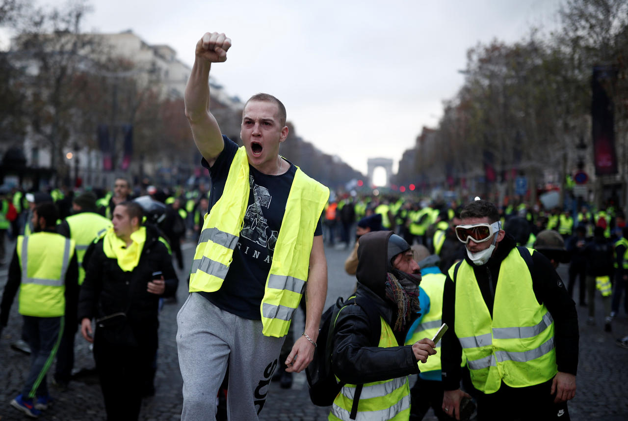 French Riots 2019 Gilet Jaune