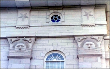 Masonic Symbols with Mormon Architecture