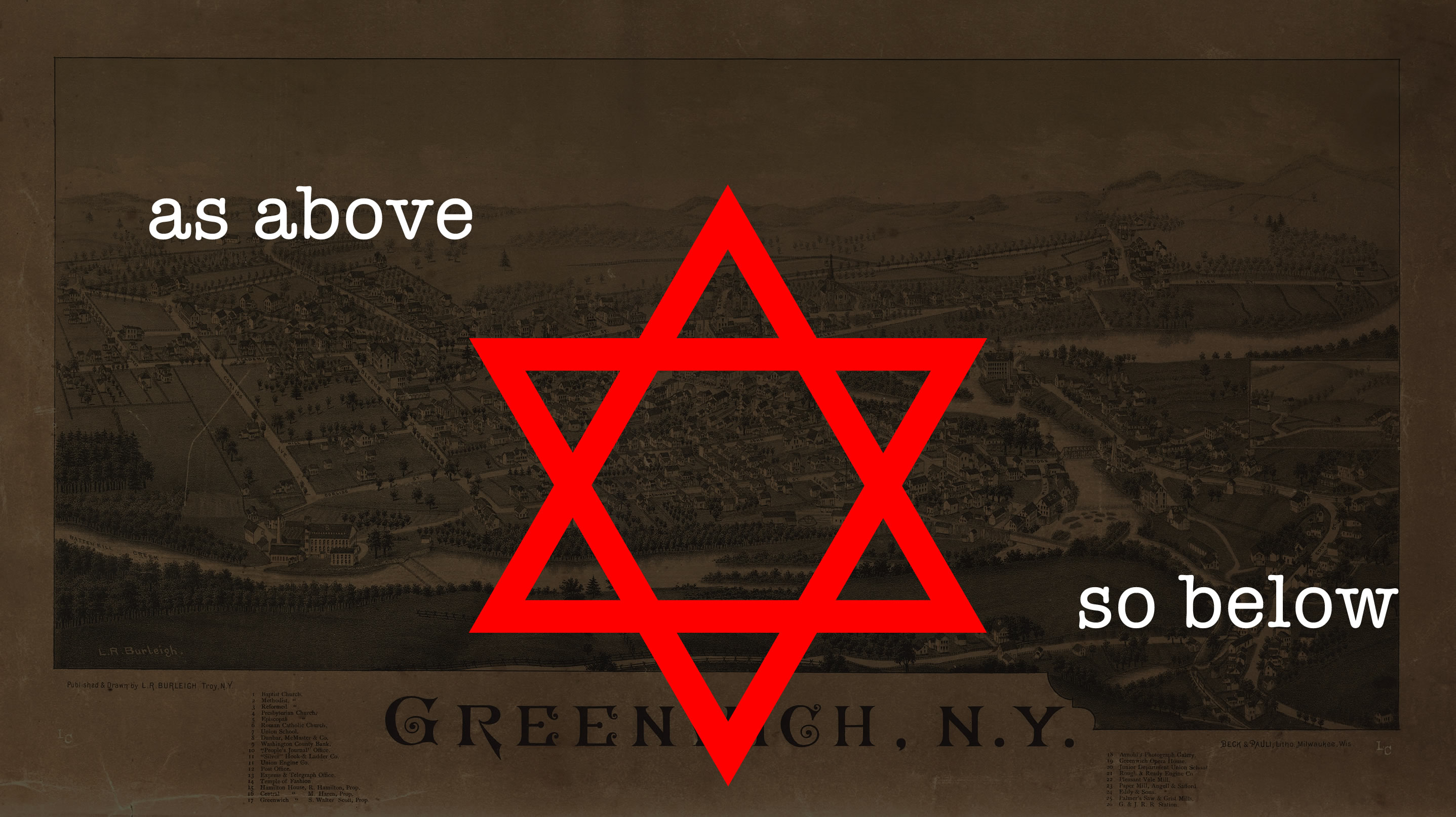 Green Witch Village New York Star of David As Above So Below