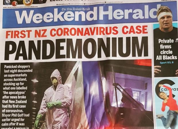 Corona Virus Panic New Zealand Media Hoax