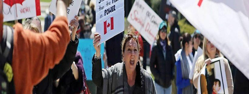 Corona Virus Lockdown Rebellions Worldwide Calgary ALBERTA Covid19