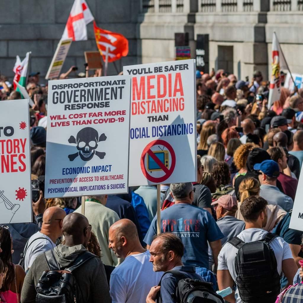 London Lockdown Protests